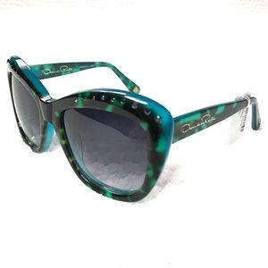 New Rhinestone Gradient Square Sunglasses